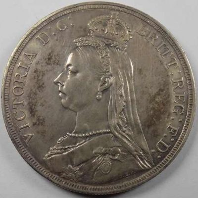 Crown 1887 London Great Britain Coin, Victoria